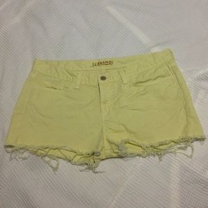 Yellow Shorts by J Brand