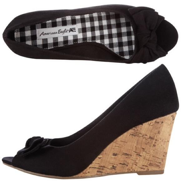 a85ec7a3c American Eagle by Payless Shoes | Final Sale Ameagle Black Peep Toe ...
