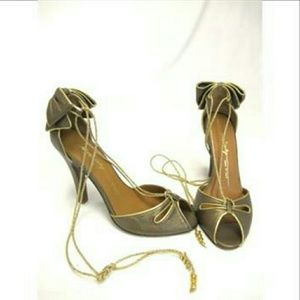 Miss Sixty Shoes - Miss 60's~high heels w/gold ties 🌻HP