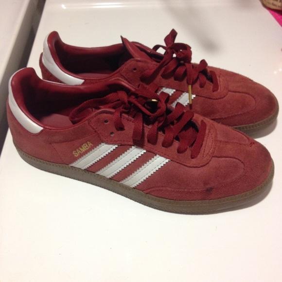 adidas burgundy samba
