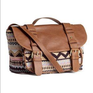 Aztec Print Messenger Bag