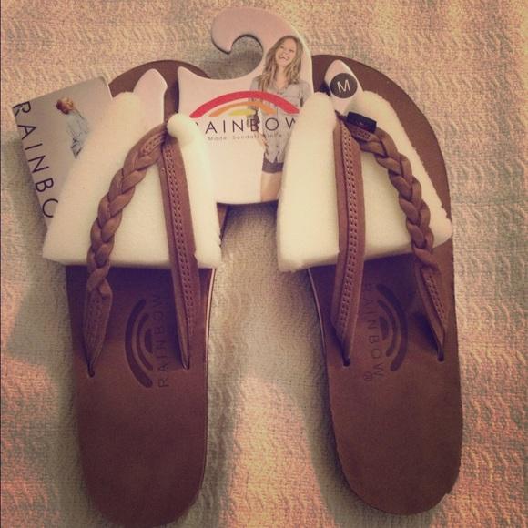 cc28221ad08d Brand new Flirty Braidy Rainbow Sandals