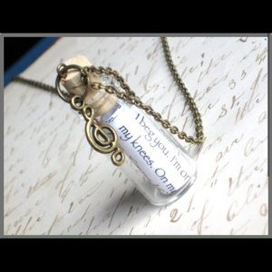 Jewelry - ⭐️ Personalized ⭐️ Message in a Bottle Necklace