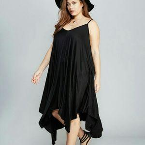 Dresses & Skirts - Black Hanky Dress Jr. Plus (1x)