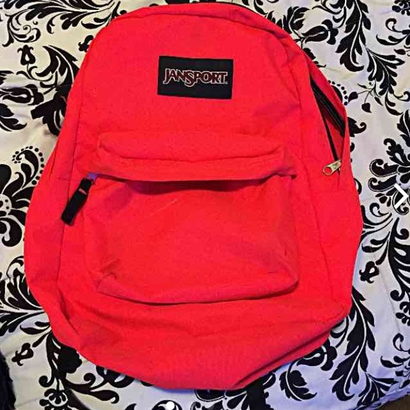 RED/ HOT PINK JANSPORT BACKPACK SOLD OS from M's closet on Poshmark