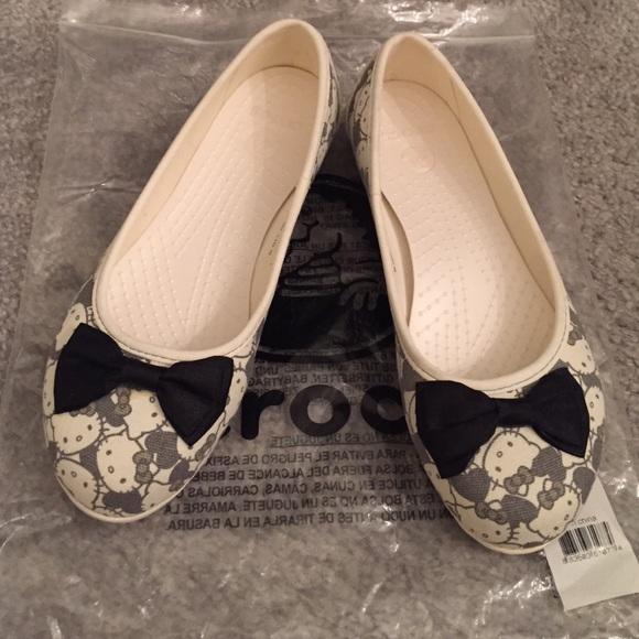 Adult Hello Kitty Crocs Ballet Flats