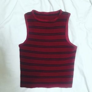 Tops - 🍷Maroon🍷Cropped knitted sleeveless top
