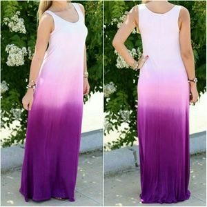 Dresses & Skirts - Purple pink ombre maxi - L