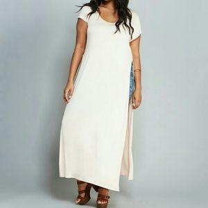 Tops - Rose Side slit maxi top - 1x