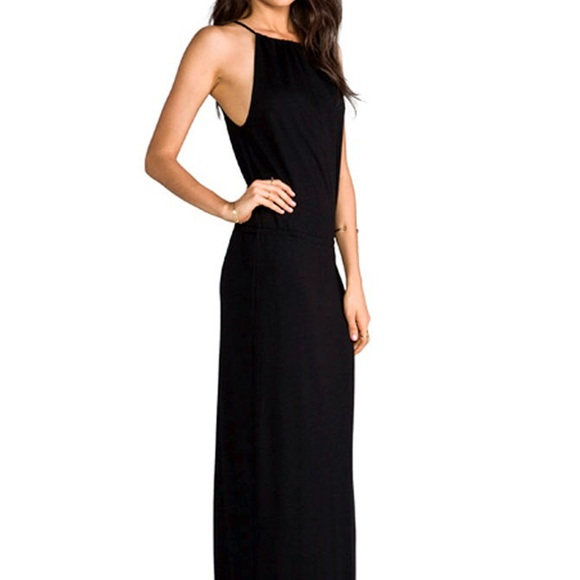 Collection Black Halter Maxi Dress Pictures - Reikian