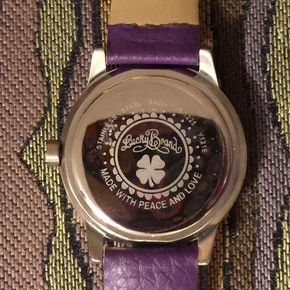 Shop Lucky Brand Women's Goldtone Peace Sign Watch - Free ... |Lucky Brand Peace Watch