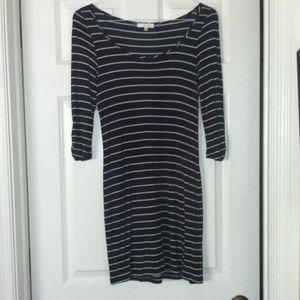 Super cute navy and white stripe dress.
