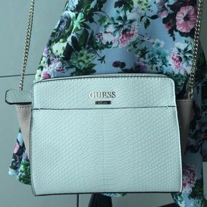 GUESS two tone handbag