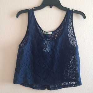 Love Squared Tops - NWT Crop Lace Tank