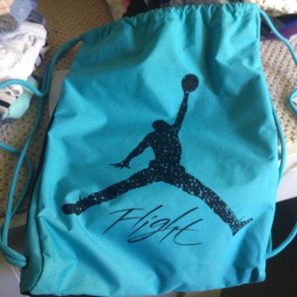bbeede2fdad Blue and black Michael Jordan flight string bag! M_55ccca5ac46d1f6ec9004491