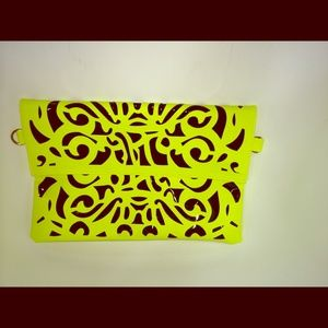 Neon Yellow Envelope Clutch Statement Piece