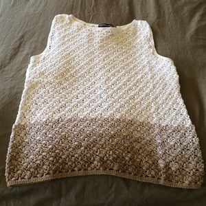 Tops - Sleeveless Knitted Top