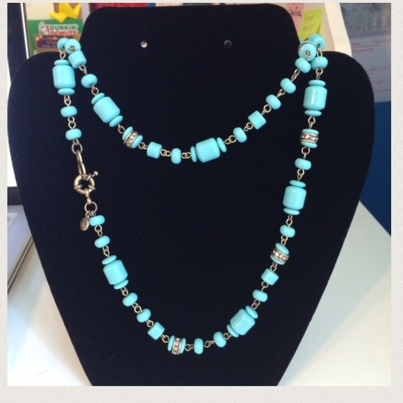 J crew teal j crew necklace long from cristina 39 s for J crew jewelry 2015