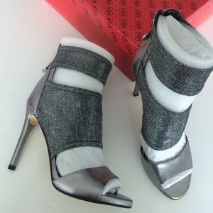 NEW IN BOX silver shoes