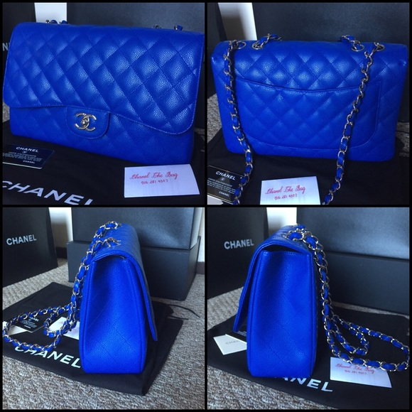 chanel bags blue. sold out chanel blue roi jumbo flap bag bags e