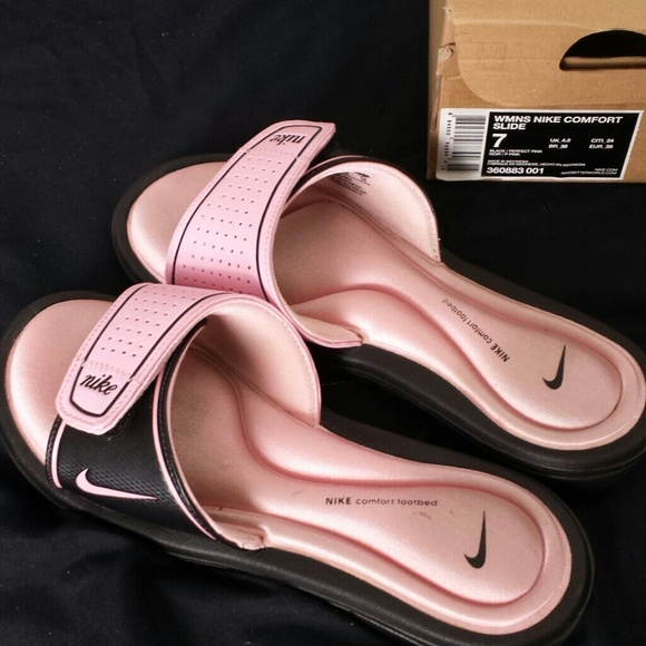 Womens Nike Memory Foam Slipon Sandals