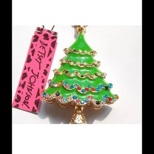 Betsey Johnson New Christmas Tree Pendant Necklace From