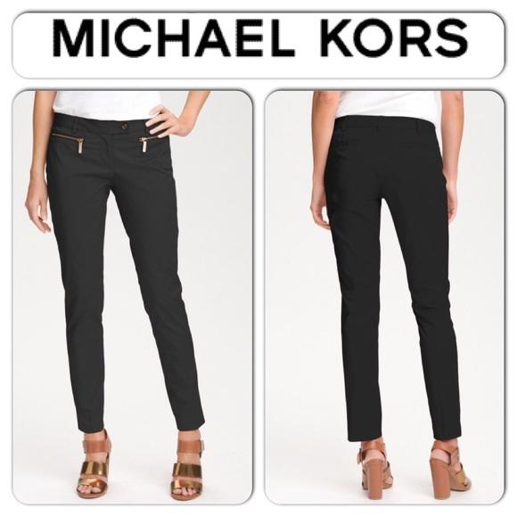 15f8157f9b36 Michael Kors Zipper Black Dress Skinny Pants SZ.4.  M_55ccea30514a682489004f3e