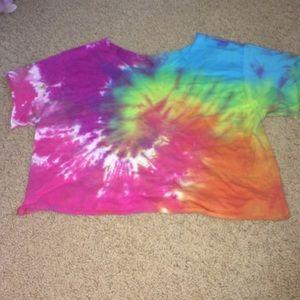 rainbow tie dye crop top