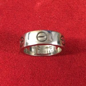 Authentic Cartier 18K White Gold Ring