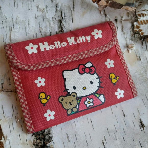 0220f49c9 Sanrio Accessories | 90s Hello Kitty Red Wallet Smiles Trifold ...