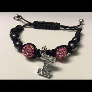 Jewelry - Rhinestone and hematite bead Shamballa bracelet.