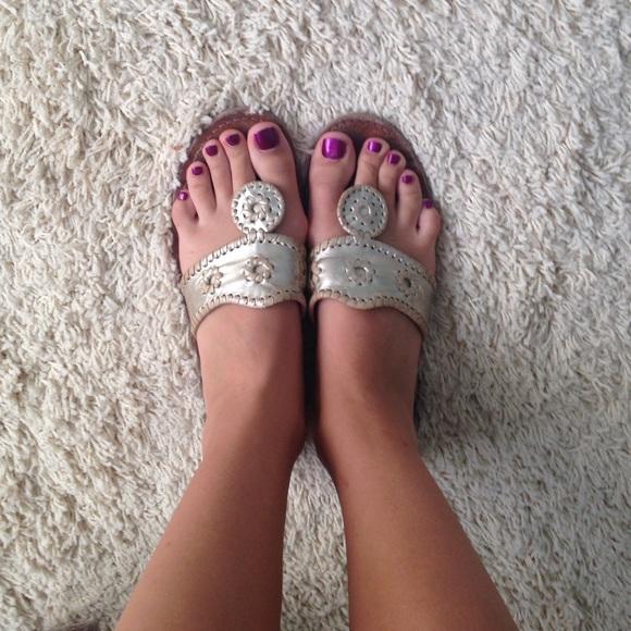 2d67eb8eb4db Jack Rogers Shoes - Platinum Jack Rogers Hampton sandals