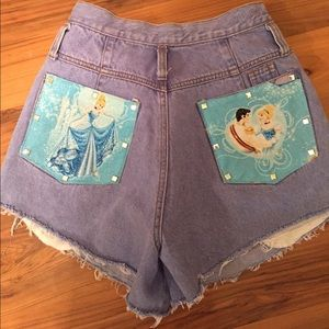 One of a kind Cinderella high waisted shorts