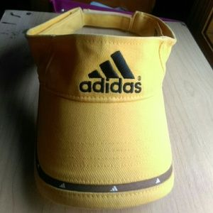 Yellow adidas visor