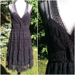 Max Studio. Boho. Black dress
