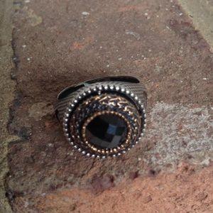 Jewelry - Vintage Hematite 925k Ring.