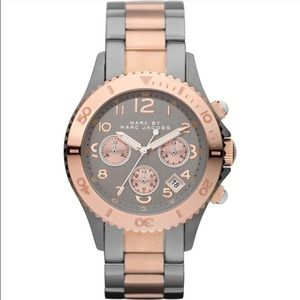 Marc Jacobs Gunmetal and Rose Gold Watch