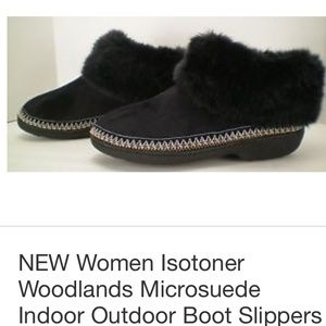 1838732c2df2 Isotoner Shoes - ❄️Isotoner Woodlands Microsuede Boot Slippers!
