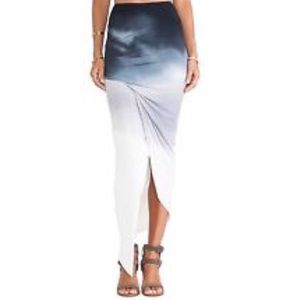 YOUNG FABULOUS & BROKE SASSY OMBRE WRAP SKIRT