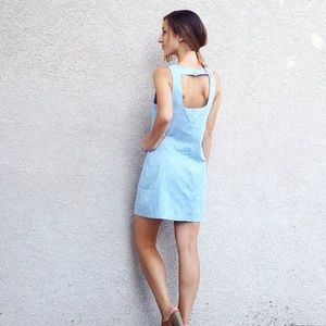 | new | light blue shift dress