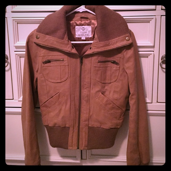 Tom wolfe leather jacket