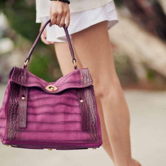 ... YSL Muse 2 Purple Croc Embossed Satchel. M 55cd503f397c624dff007fa4 ab1794e4da838