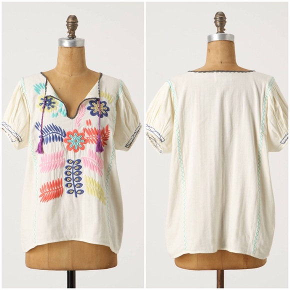 Anthropologie Peasant Blouse 104