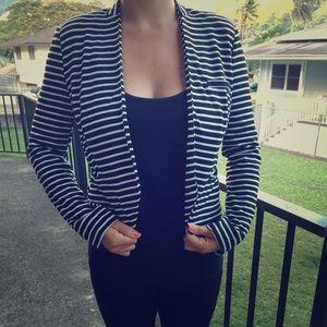Zinga Jackets & Blazers - Zinga Black & White striped Jacket