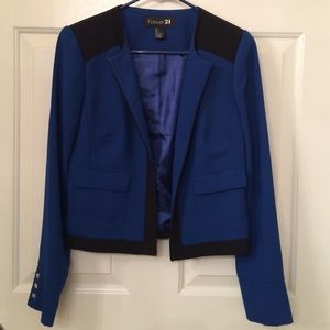 Forever 21 navy and black jacket/blazer in size S