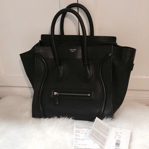 celine mini luggage tote on Poshmark