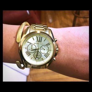 74bff7751dcd Michael Kors Accessories - Michael Kors Gold Bradshaw Watch