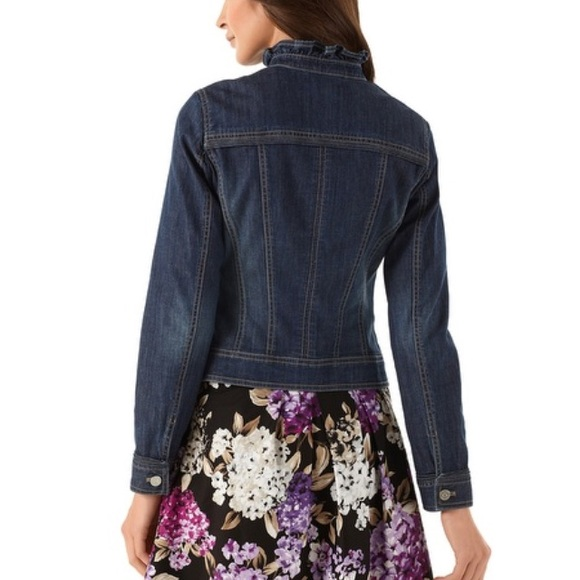 White house black market purple leather jacket