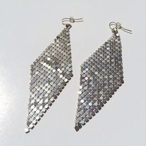 bebe Jewelry - BEBE diamond metal mesh earrings