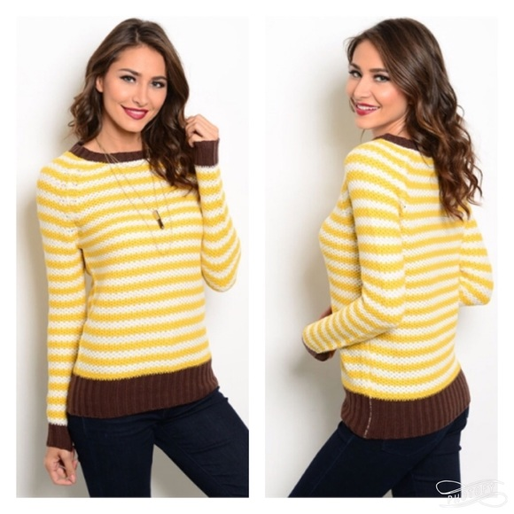 pink berry boutique Sweaters - Brown mustard sweater